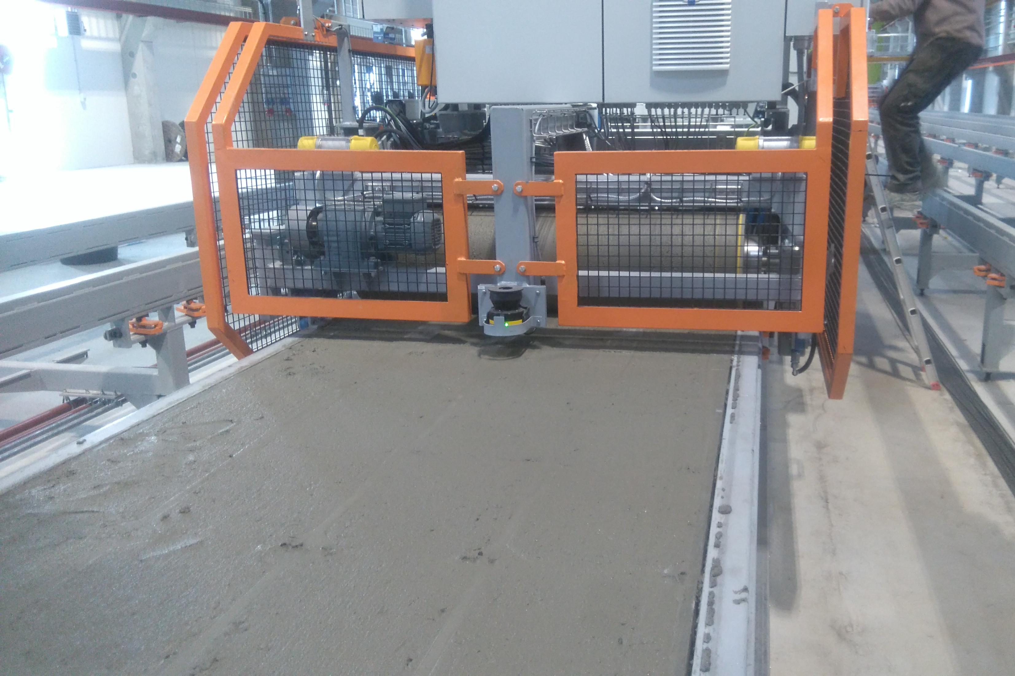 Automated laying of concrete
